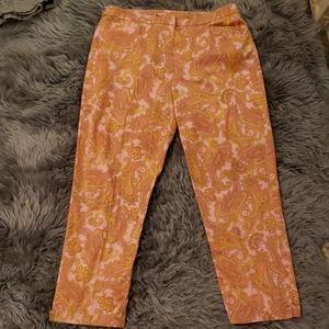 Jones New York Pink Paisley Pants